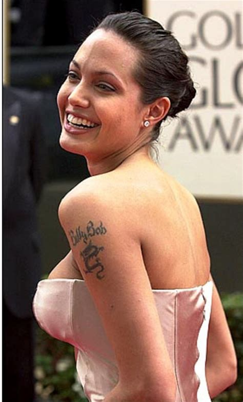 angelina jolie binary tattoo angelina jolie sexy tattoos and their meanings
