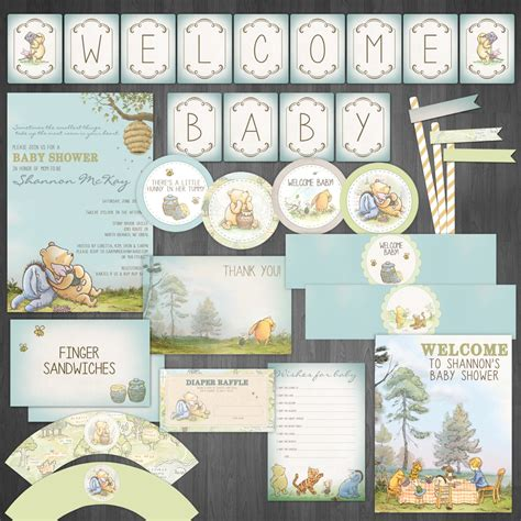 Vintage Winnie The Pooh Baby Shower by Classic Winnie The Pooh Diy Baby Shower By Designsbycassiecm