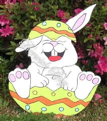 Easter Bunny Artist Yard Woodworking Happy Easter Bunny Wooden Yard