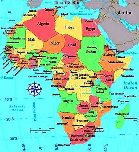 map of africa maps of africa