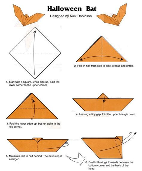 How To Make Bat With Paper - 1000 ideas about origami on origami