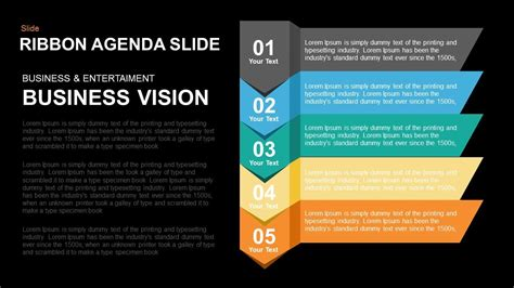 presentation agenda powerpoint and keynote template ribbon agenda slide powerpoint and keynote template