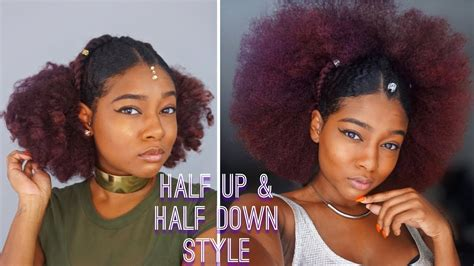 how to wear slick back natural hair natural black summer hairstyles slick back half up half
