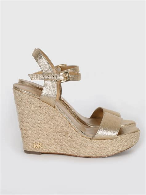 Sandal Wedges Ls08 Hitam 36 michael kors gold strappy espadrille wedge sandals 36 luxury bags
