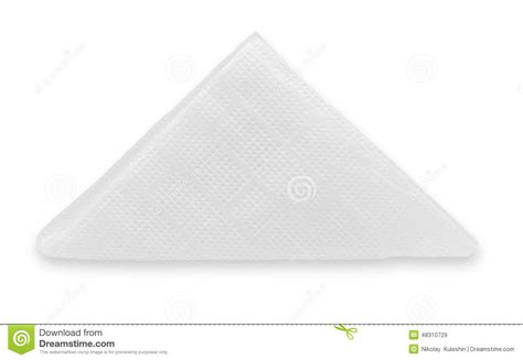 Fold Paper Into Triangle - crinkled napkin stock image image of shadow background