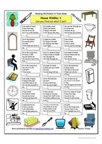 71 free esl riddles worksheets