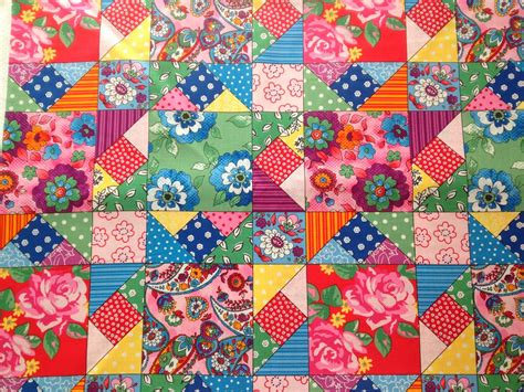 Patchwork Textiles - flowers in the window quilting bee patchwork fabric