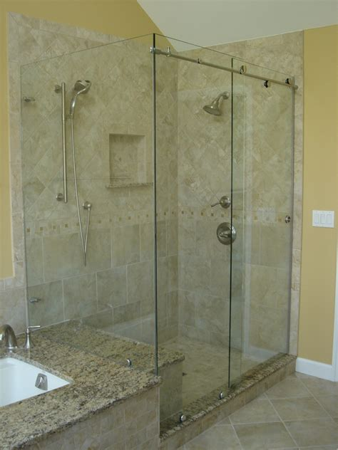 Bathroom Glass Sliding Shower Doors Frameless Sliding Glass Shower Doors Size Frameless Sliding Glass Shower Doors Practical