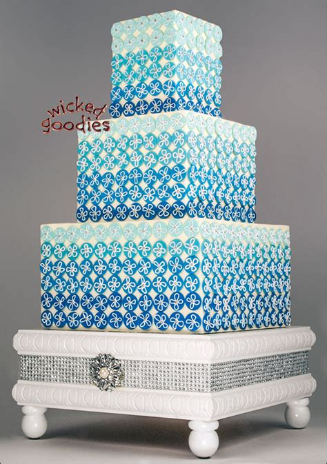 How To Make Books Stand Up by Blue Ombre Bling Wedding Cake
