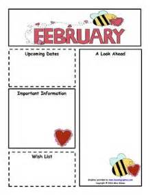 february monthly newsletter customizable classroom