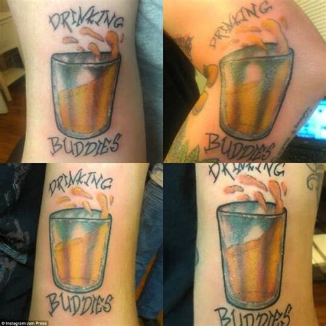 drink tattoo bffs show their matching tattoos daily