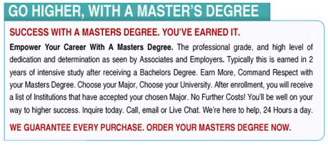 Getting An Mba With A Biology Degree by Masters Degree Fast In 7 Days Mba