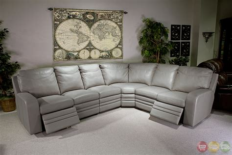 Foam Upholstery Padding Parker Living Steinbeck Gray Top Grain Leather Sectional