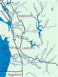 map of san leandro california hayward san leandro watershed finder