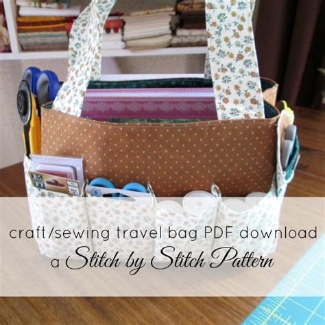 free craft projects travel craft sewing bag by marelize ries craftsy