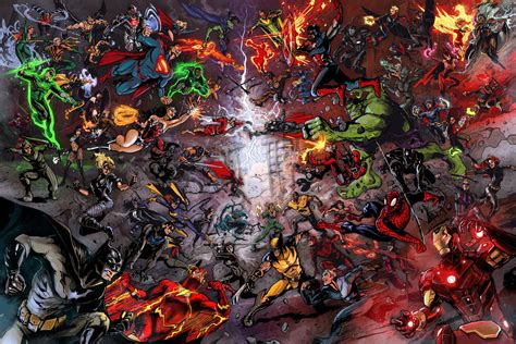 marvel vs dc wallpaper by artifypics on deviantart dc vs marvel war of the universes by timothylaskey on