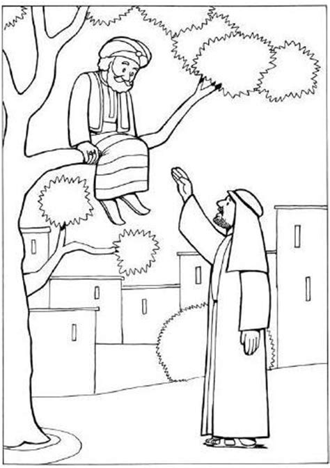 Coloring Page Zacchaeus Jesus by Zacchaeus Cut Out Coloring Coloring Pages