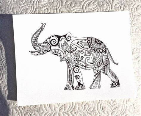 pattern elephant meaning hand drawn henna style elephant mehndi style designs