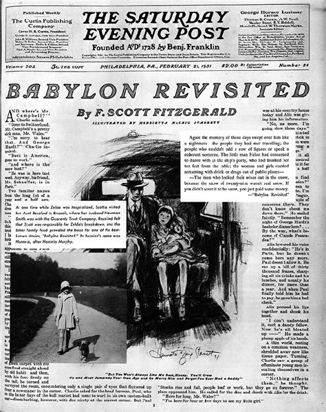 themes in fitzgerald s short stories malcolm lowry the 19th hole babylon revisited