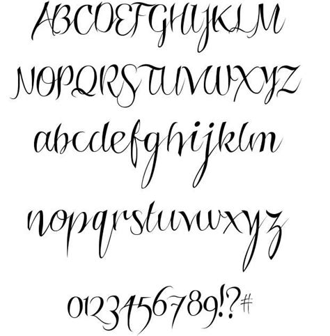 tattoo fonts that look like handwriting calligraphy writing fonts www pixshark images