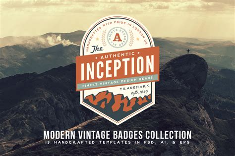 modern vintage badges collection logo templates