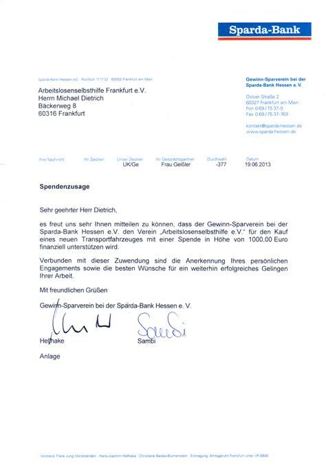sparda bank kosten arbeitslosenselbsthilfe e v entr 252 mpelungen frankfurt
