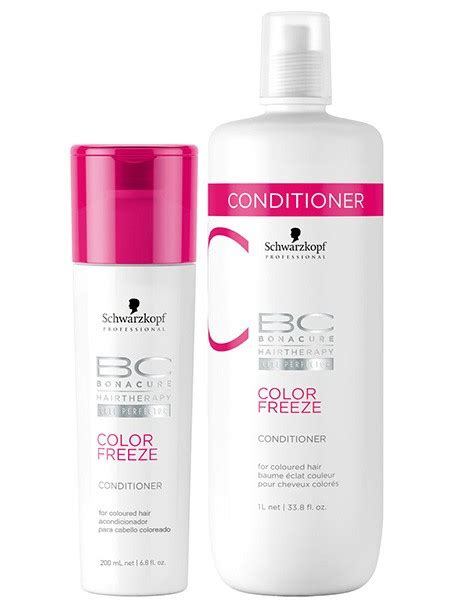 shoo and conditioner for colored hair schwarzkopf bonacure color freeze conditioner for colored