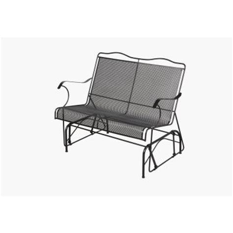 home depot paint glider arlington house jackson patio loveseat glider 7894000