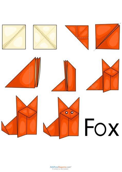 How To Make A Paper Fox - easy origami fox kidspressmagazine