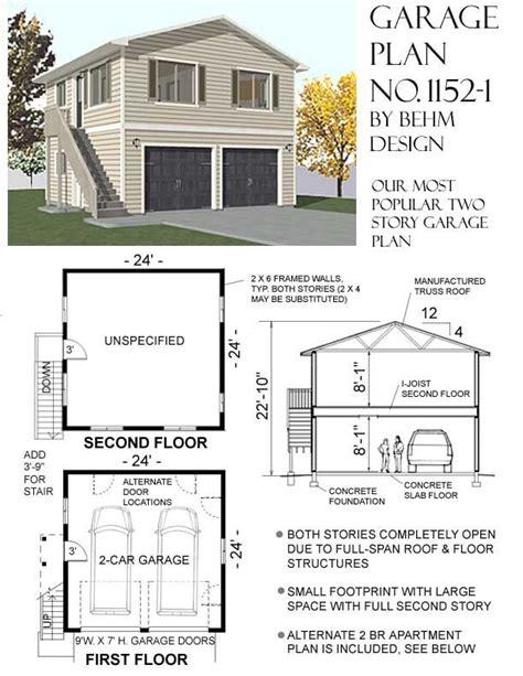 2 story floor plans with garage 317 best garage plans by behm design pdf plans images on