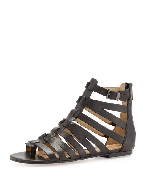 gladitor sandals sam edelman beck leather gladiator sandal in black lyst