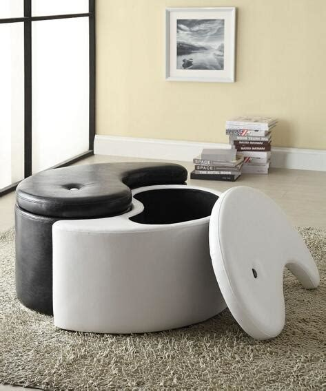 Ying Yang Storage Ottoman A M B Furniture Design Living Room From Amb Furniture And