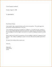 Thank You Letter New Client 10 customer letter sample event planning template