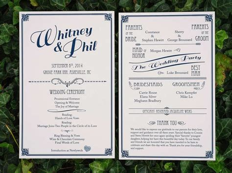 wedding program inclusions wedding program inclusions 18 best menus images on