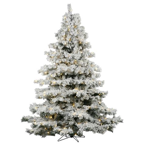 menards colorado flocked pine vickerman flocked alaskan 7 5 white artificial tree with 900 dura lit clear lights