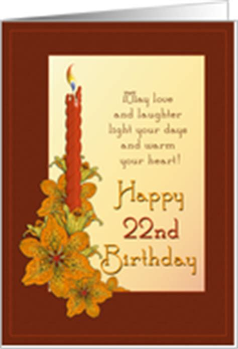 22 Happy Birthday Wishes 22nd Birthday Cards From Greeting Card Universe
