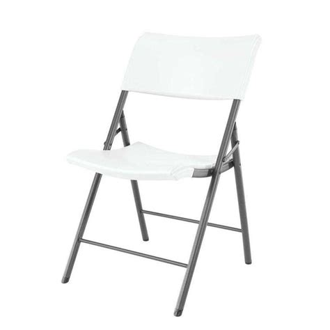 lifetime white folding chair set of 4 80191 the home depot