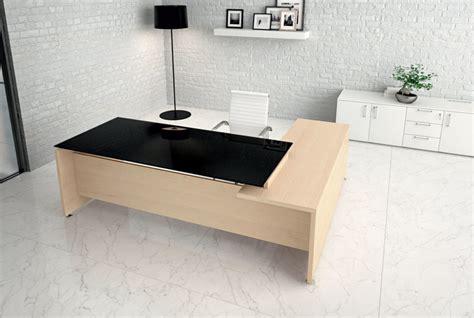 scrivania angolare vetro scrivania piano vetro direzionale go 1 arredamento per