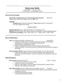 associates degree on resume exles resume format 2017