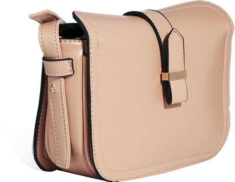 Beige Plain Cross Bag connection plain buckle crossbody bag in beige lyst