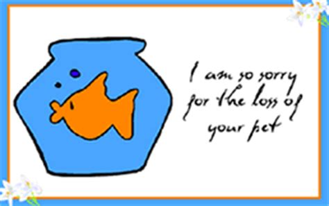 pet sympathy card template printable pet loss fish goldfish sympathy condolence