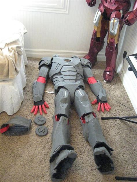 cardboardfoam iron man suits stuff diy costumes