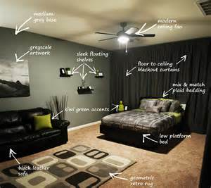 Concept For Bachelor Bedroom Ideas Modern Bachelor S Bedroom Callout This Denizen Design Clie Flickr