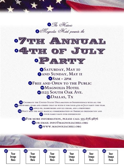 American Flag Flyer 002 Ticketprinting Com Free American Flag Flyer Template