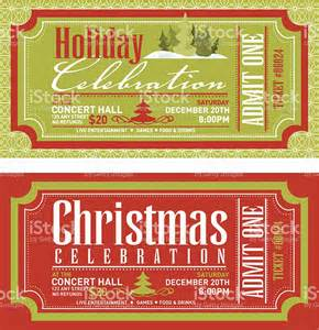 set of christmas concert tickets templates stock vector