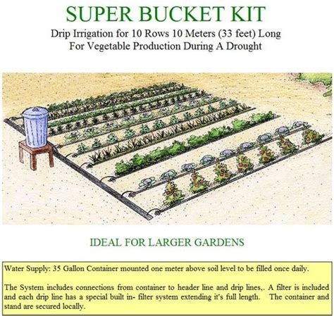 Gravity Drip Bucket Irrigation Systems For Vegetable Vegetable Garden Irrigation Systems