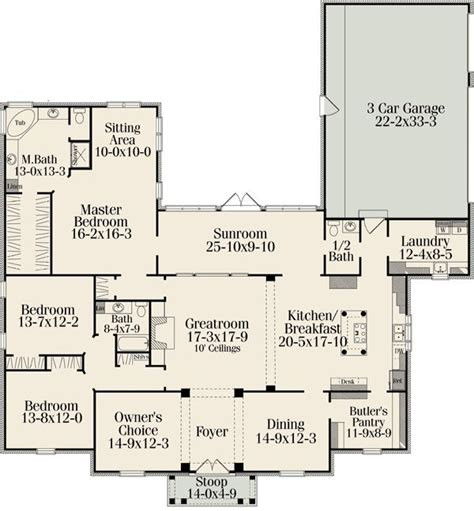 great floor plans plan w62092v southern house plans home designs
