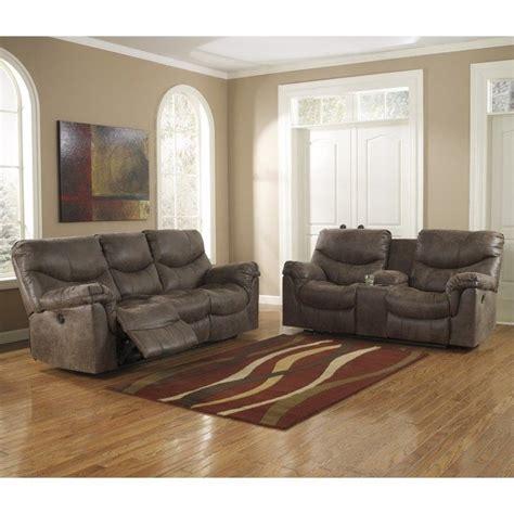 ashley furniture alzena  piece reclining sofa set
