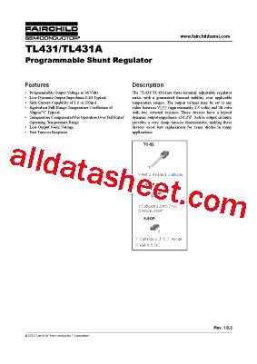 transistor tl431 datasheet tl431 datasheet pdf fairchild semiconductor