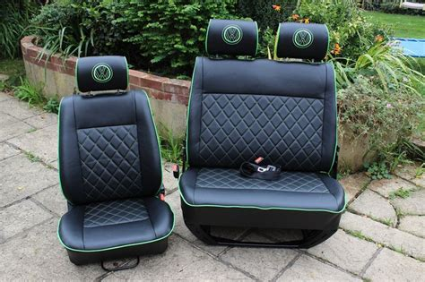 Vw T4 Seat Upholstery by Vw T4 Front Seats Vw T4 Front Seats In Smooth Black